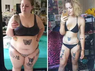 看完想拿刀切掉自己的肉 减肥对比图