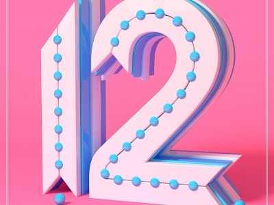 女神带你在C4D制作创意数字12 87time 12.87